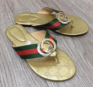 The latest, 2020 sandals Fashion gggBrand Famous Thong Flip Flops Women Summer shoes Beach sandals leather
