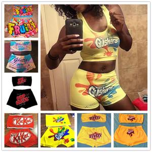 18 stili del fumetto Bikini Swimsuit del progettista delle donne Swimwear canotte Vest Reggiseno push-up + shorts di nuotata 2PCS Set Tankinis Beach vestito di nuotata D7807
