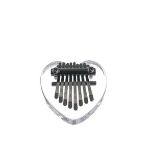 8-Tone Mini Crystal Thumb Piano Acrylic Body Metal Keys With Notes Heart-shaped Small and Portable Orff Percussion