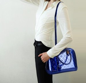 New Designer classic style handbag shell bag shoulder bag glossy patent leather embossed handbag Messenger bags