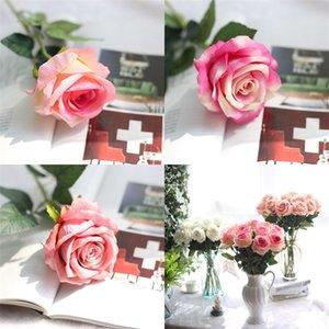 Festa de aniversário Flannelette Flores artificiais casamento colorido da flor Plant Simulation Decorações Home Wall Decor ordem de julgamento 2 4ff E2