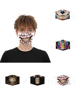 Дизайнер маска череп Флаг цифрового Спорт Halloween Party Cosplay роскошных маски для лица многоразовой Пыль Теплых ветрозащитных Праздничной маски