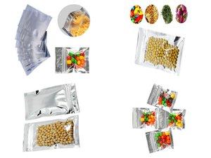 7X13Cm Borrar bloqueo de almacenamiento de bolsas de papel de aluminio translúcido Ziplock bolsas de sello auto de la categoría alimenticia de Mylar de plástico con cremallera bolsa de 275X51 garden2010 eH Zip