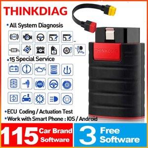 5PCS / LOT completa del sistema OBD2 Diagnostic Tool Thinkdiag PK Codice AP200 esplorazione del lettore X431 Con 3 software auto 15 servizi recenti