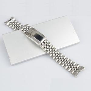 CARLYWET 20 millimetri argento di alta qualità 316L Solid Curved End vite Link cinghia della fascia Giubileo braccialetto di vigilanza con Oyster chiusura Per Master II