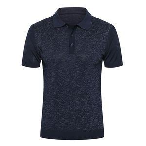 Billionaire polo shirt silk men 2020 summer new Business fashion Breathable elasticity zippers thin Big size M-5XL free shipping