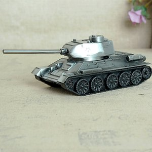 Retro War Tank Children Toys Home Decorations Metal Tank Model Photography Prop Model Living Room Decoration Iron Crafts T200703