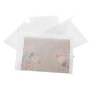 100 Pcs lot Creative Retro Transparent Envelope DIY Envelope Envelope Blank For Invitations Postcard Envelop