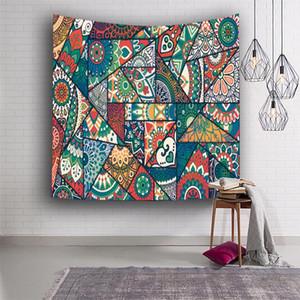 Tapestry polyester imprimé fleurs Tapis de yoga pique-nique serviette Impression tapisserie tenture tapisserie Décoration d'intérieur 8 couleurs DHB930