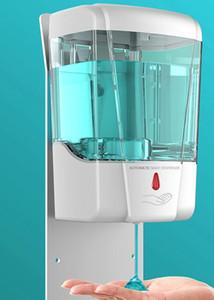 700ml automático dispensador de jabón líquido del sensor de montaje en pared dispensadores de jabón spray desinfectante sin contacto de jabón líquido de goteo del dispensador GGA3614-1