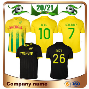 2020 maillot de football FC Nantes 20/21 Accueil COULIBALY COCO BLAS Soccer A TOURE LOUZA SIMON Loin uniforme de football