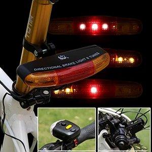LED Bicycle Bike Turn Signal Directional Brake Light Lamp 8 Sound Horn Night Traffic Lights Safety Reflectors 2020