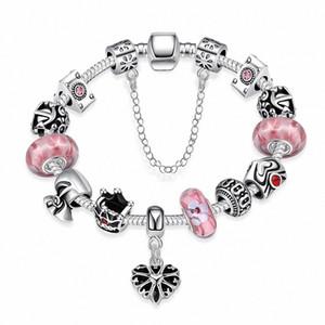 Commercio all'ingrosso dei monili di pietra bordano i braccialetti fascino Rubino Moda Argento 925 Rosa Pietra Naturale epoca fai da te S braccialetti di fascino d'argento yEuR #