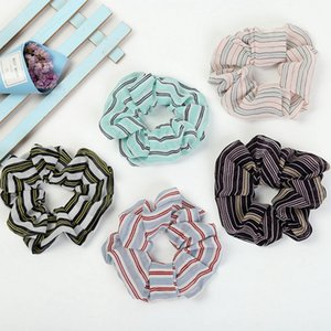 Women Scrunchies Hairbands Plaid Large Intestine Hair Ring Elastic Rubber Band Ponytail Holders Girls Hair Accessories 11 Designs BT4443