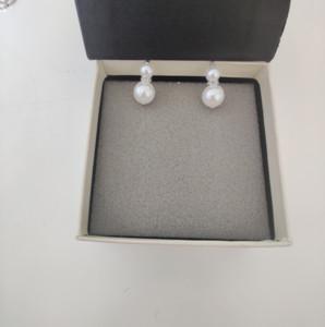Duplo Prata Brincos Pearl o tamanho Muito bonito Brincos Contador Latão Consistente material Sterling Silver Pin Brincos de alimentação