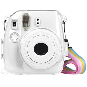 Protective Crystal Shell Case with Strap for FUJIFILM instax mini 9   mini 8+   mini 8