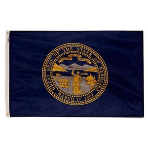 Nebraska Flag Bundesstaat USA Banner 3x5 FT 90x150cm State Flag Festival-Party-Geschenk 100D Polyester Indoor Outdoor Printed Heißer Verkauf