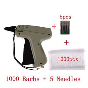 Nueva ropa de la ropa de etiqueta de precio etiquetado Etiquetar Gun 1000 Púas + 5 agujas en etiquetado y marcado Suministros