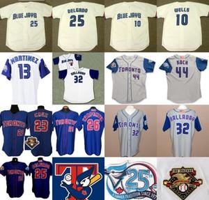 2001 Toronto 25e anniversaire Patch 10 Vernon Wells 23 Jose Cruz 25 Carlos Delgado 26 Chris Carpenter 32 Roy Halladay Baseball Maillots