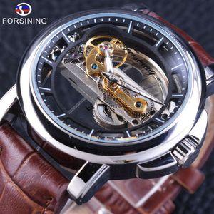 Forsining MONTRES mécaniques pour hommes avec remontage automatique montre Steampunk étanche concepção montres pour hommes Top marque horlo