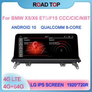 """10.25"""" Android 10 écran pour BMW X5 / X6 Car E70 / E71 / F15 CCC CIC NBT 2007-2016 avec lecteur multimédia stéréo écran de navigation GPS"""