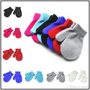 HOT Winter Autumn Baby Crochet Warm Glove 7 Solid Colors Knitted Children Boys Girls Mittens Unisex Kids Gloves