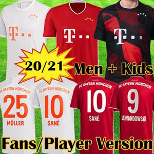 كيت 20 21 بايرن ميونيخ SANE لكرة القدم جيرسي LEWANDOWSKI MULLER HERNANDEZ قميص كرة القدم للرجال + الاطفال ال120 120 سنة MUNCHEN 2020 2021