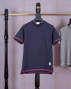 logotipo popular novo TB primavera / verão 2020 de quatro cores tarja POLO T-shirt ocasional de manga curta para homens e mulheres