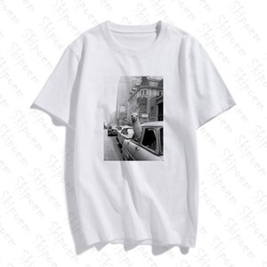 Moda kısa kollu tişört Lama A Taksi On Times Square Baskılı% 100 Pamuk Üst Tees Casual Ç Boyun Tshirt Unisex Tshirt