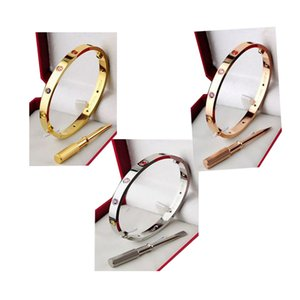Mens Jewelry 916L Stainless Steel Screwdriver Bracelets Fashion women Rose Gold Bangle Wedding Classic Style Silver Love Wristlet