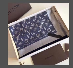 Hot Silk Schal Pashmina für Frauen und Männer Qualitäts-Marken-Sommer-Herbst-Schal Louis Vuitton-Ansatz-Verpackung 180x90cm Tücher