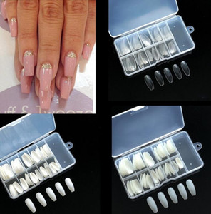 100pcs Ballerina Full Nails Conseils artificiels Faux fausses Nails DIY COFFIN ongles Conseils pour ongles Nail Art Tool Tool avec boîte Free Ship