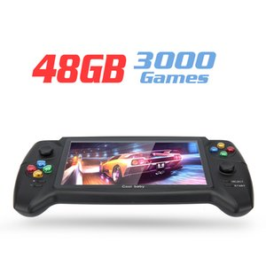 RS-08 Handheld Game Video Game Console with Double Rocker 7in Screen for FC GB GBA GBC MD NES SFC PS Games Support TF Card 48GB 3000 Games