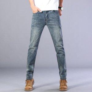 2020 Sulee Top Markengeschäft Jeans Männer gerade Stretch Jeans beiläufige Art und Weise klassische Art Cotton Denim