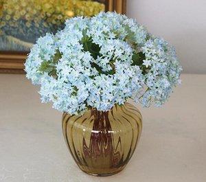 Mini seta artificiale Hydrangea Fiori Sea Shell Ortensia Falso fiori per il matrimonio della damigella d'onore Fiori Bouquet Anniversary Party Decor