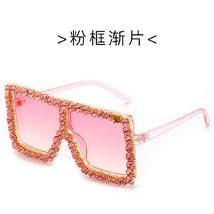 Crystal Square Sunglasses Fenchi Women Sunglasses Classic Brand Designer Frame Retro Crystal Square Ladias Eyewear Occhiali Da Sole bwkf YkS