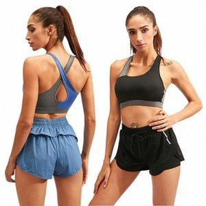 De secado rápido Deportes BraSexy Cruz de belleza Volver respirable a prueba de golpes Yoga sujetador corrientes de las mujeres aptitud del chaleco de la ropa interior nueva # 3 DIjV