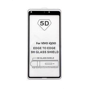 5D Full Cover Ausgeglichenes Glas-Displayschutzfolien für VIVO iQOO X27 X23 V11 V15 V11I NEX A Y97 Y95 Y93 pro