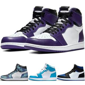 Классический High Tie Dye Бесстрашный Les Twins игры Royal Mens Basketball обувь Camo суд фиолетовый Mid университет Синий UNC Backboard кроссовки