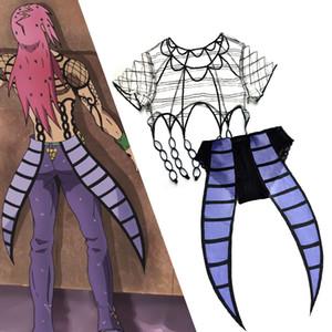 JOJO'S Tuhaf Macera Diavolo Iç Çamaşırı Cosplay Jojo Kostüm Custom Made Halloween Kostümleri ve Yetişkin İçin Peruk Yapıldı