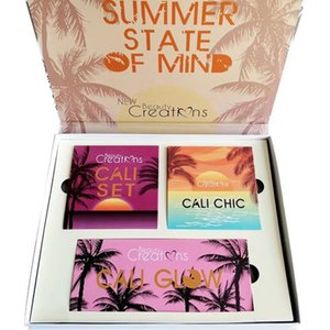 3 sets of coconut new Beauty CALI makeup three in one eye shadow set high CD cosmetics DHL free shipping