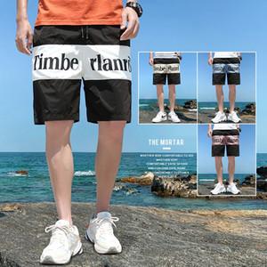 pantalones cortos casuales 2020 nueva moda estilo coreano cosechado playa de los hombres hasta los tobillos nueve nueve Beach cortos recortada pantalones deportivos pantalones de los hombres