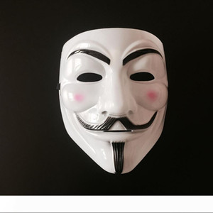 Wholesale Halloween Party V For Vendetta Mask Guy Fawkes Anonymous Halloween Costumes Fancy Ball Masquerade White Yellow PVC Masks