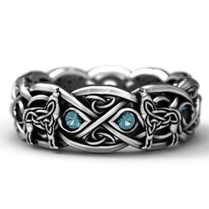 MENGYI Pattern Hip hop Ring For Men Goth Rocker Metaller Hippie Hipster Wolf Head Men's Rings Man Biker Male Finger Jewelry