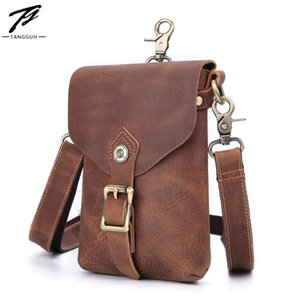 Fashion Men's Crossbody Bags Leather Small Messenger Bags Solid Color Designer Zipper Shoulder Male Waist Packs For Travel