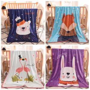 New Design Baby Blanket Flamingo Fox Printing Multi Style Sofa Plush Blankets Sleeping Spring And Autumn Different Color 47 8ldH1