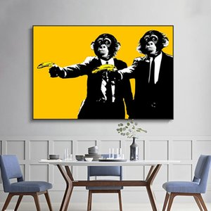 Abstract Funny Monkeys Canvas Paintings On The Wall Posters And Prints Animals Art Pictures For Kids Room Wall Decor Cuadros