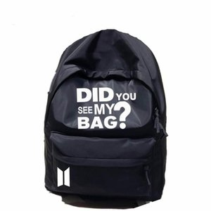 Backpack Korea Bangtan Boys Star Bag Did You See My Bag Print Army Back Packs Travel Laptop Student School Book Bag