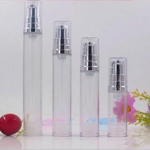 15ML 12ML 10ML 5ML Clear Airless Lotion Pump Bottle Emtpy Refillable hand cream bottle With lotion pump Container