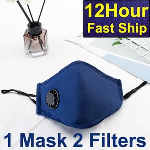 Auf Lager ! Schiff! Mode Radfahren Gesichtsmaske Luft aktiviert Ausatemventil Mit PM 2.5 Filter Anti-Fog-Wiederverwendbare Mundschutz Blau